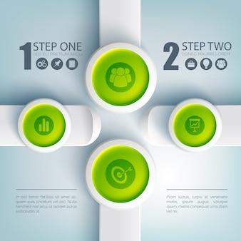 Concepto de diseño web de infografía