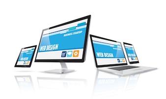 Concepto de diseño web de internet