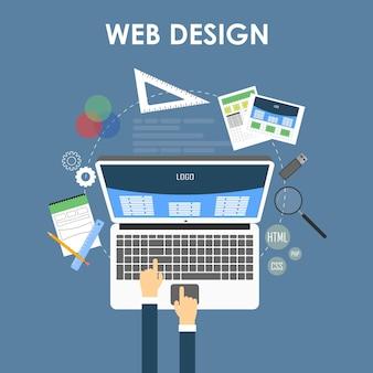 Concepto de diseño web receptivo. vector eps 10