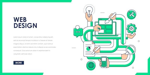 Concepto de diseño web receptivo