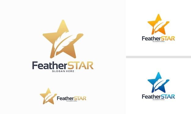 Concepto de diseños de logotipos de star art, plantilla de logotipo iconic star painting