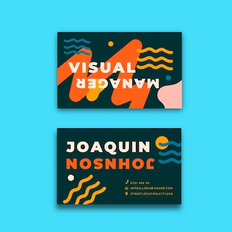 Concepto divertido para tarjeta de visita del diseñador