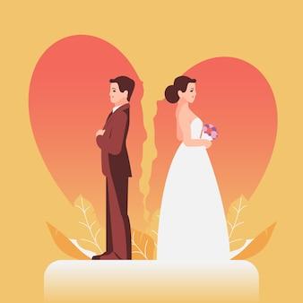 Concepto de divorcio ilustrado