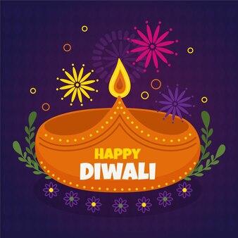 Concepto de diwali dibujado a mano