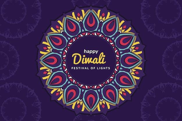 Concepto de diwali en diseño plano