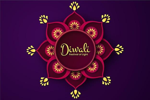 Concepto de diwali en estilo papel