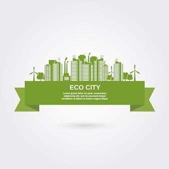 Concepto eco ciudad