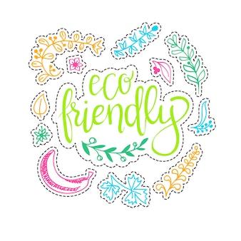Concepto de ecología - elemento de diseño hecho de pegatinas