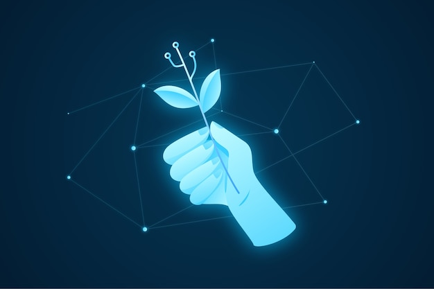 Concepto de ecología tecnológica ilustrado