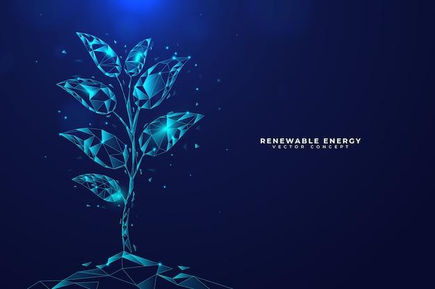 Concepto de ecología tecnológica con planta