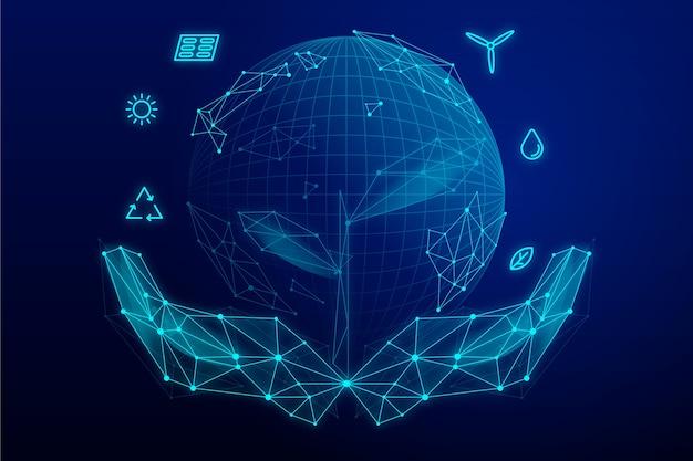 Concepto de ecología tecnológica