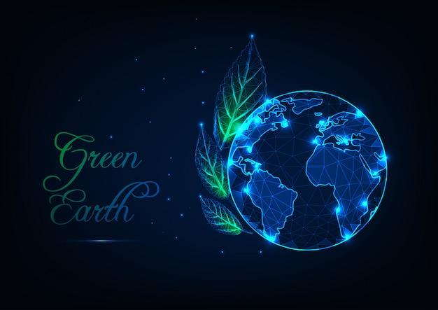 Concepto de ecología de la tierra verde.
