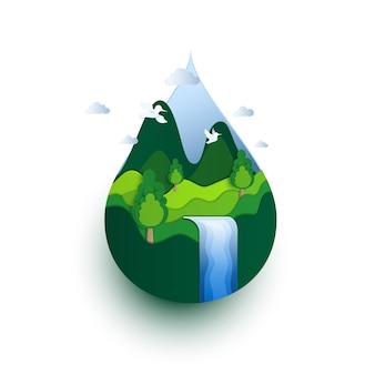 Concepto ecológico del día de la tierra.