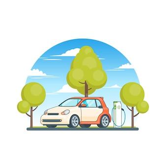 Concepto ecológico de energía limpia