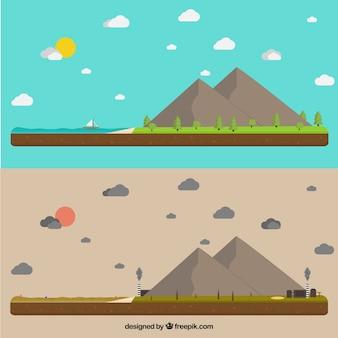Concepto del ecosistema y contaminación