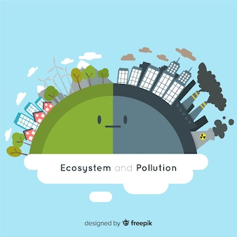 Concepto de ecosistema y contaminación