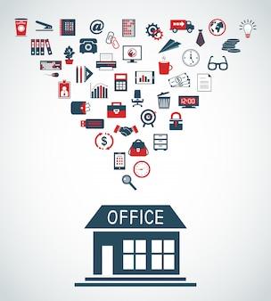 Concepto de edificio de oficinas de negocios