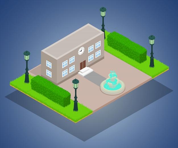 Concepto de edificio de oficinas