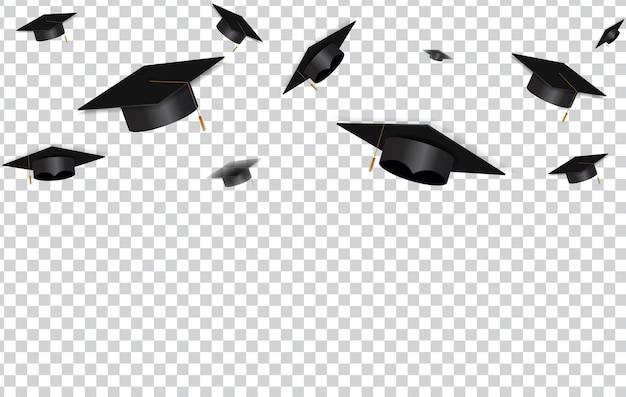 Concepto de educación. gorras de graduación