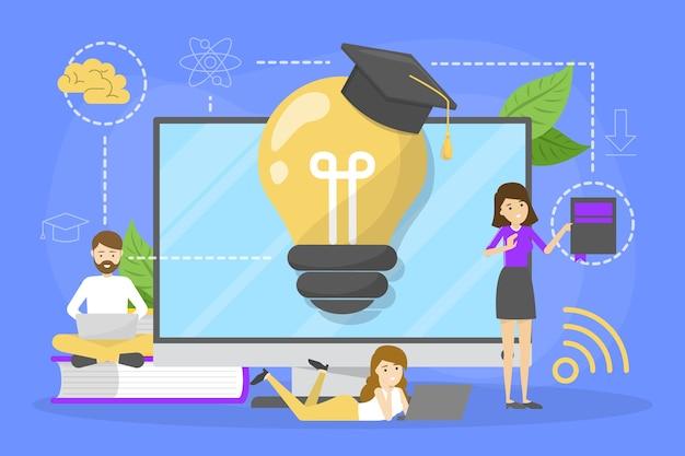 Concepto de educación. idea de aprendizaje y conocimiento.