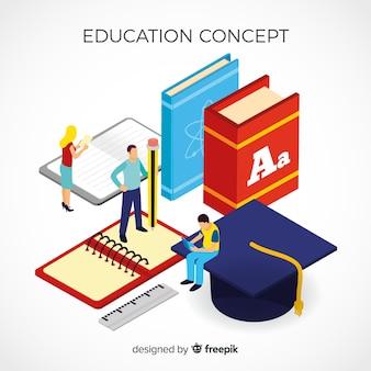Concepto educación isométrico