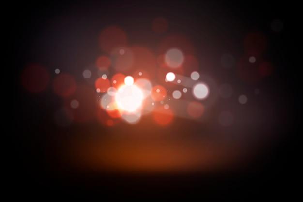Concepto de efecto de luces bokeh sobre fondo oscuro