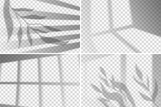 Concepto de efecto de superposición de sombras transparentes