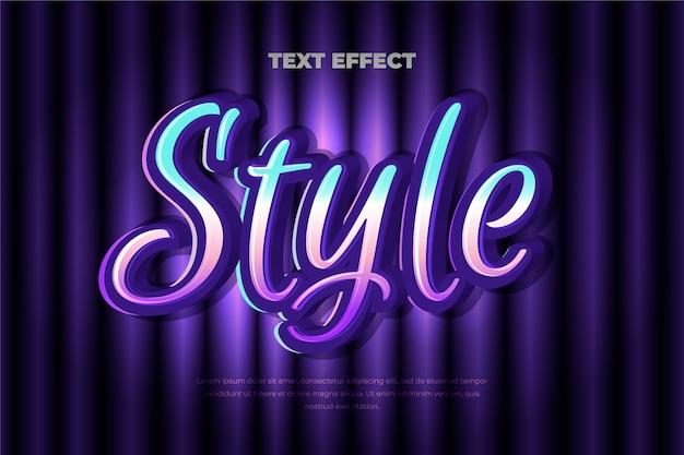 Concepto de efecto de texto