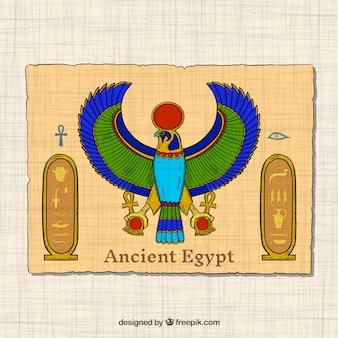 Concepto de egipto antiguo dibujado a mano
