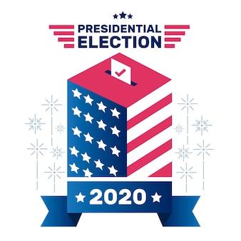 Concepto de elección presidencial estadounidense de 2020 ilustrado