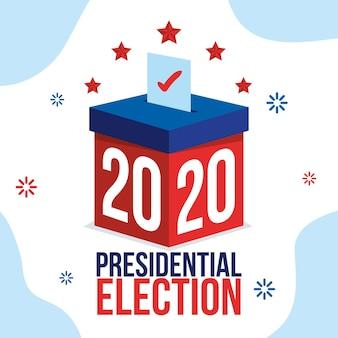 Concepto de elección presidencial estadounidense de 2020