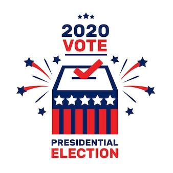 Concepto de elección presidencial estadounidense ilustrado