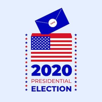 Concepto de elección presidencial estadounidense