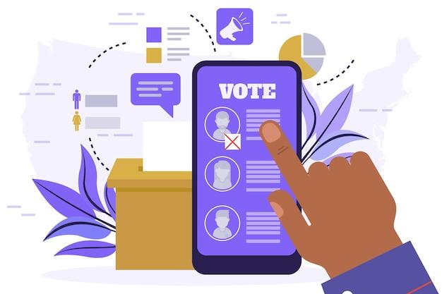 Concepto de elecciones presidenciales de estados unidos de 2020