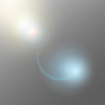 Concepto de elementos de luz realista