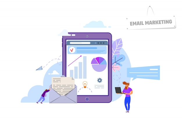 Concepto de email marketing