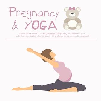 Concepto de embarazo y yoga