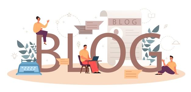 Concepto de encabezado tipográfico de blog