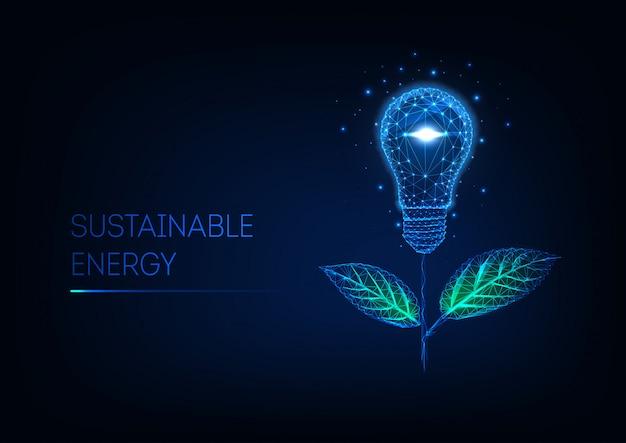 Concepto de energía sostenible