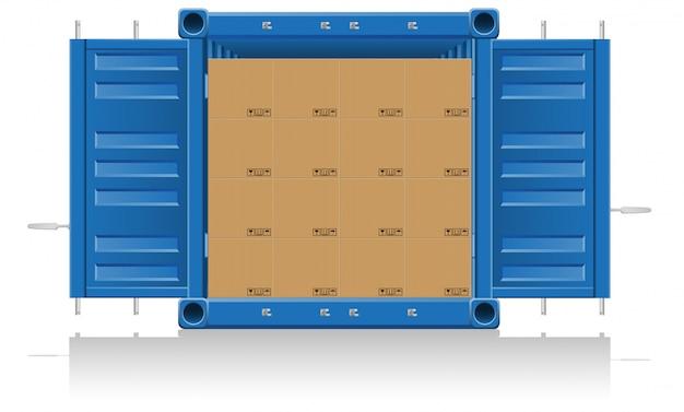 Concepto de entrega de carga