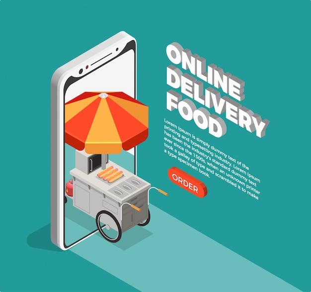 Concepto de entrega de comida en la calle