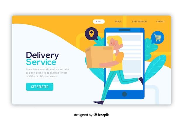 Concepto de entrega para la página de destino