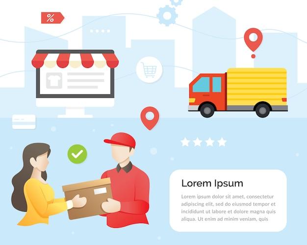 Concepto de entrega urgente