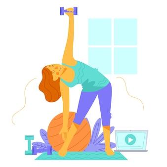 Concepto de entrenamiento en casa