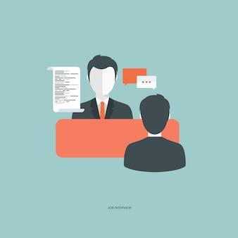 Concepto de entrevista de trabajo