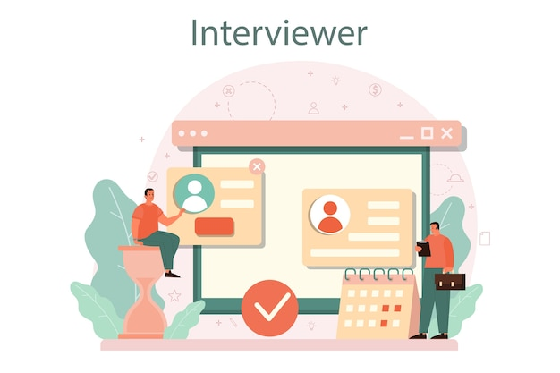 Concepto de entrevista de trabajo.