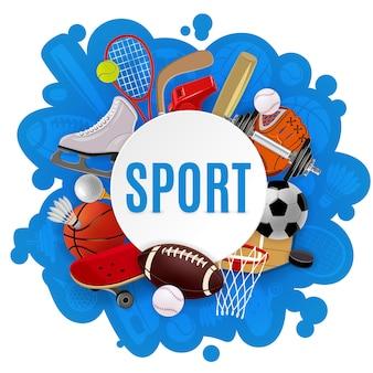 Concepto de equipamiento deportivo