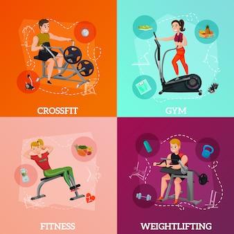 Concepto de equipo de ejercicio