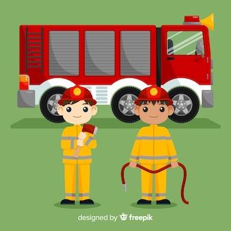 Concepto de equipo de emergencia flat