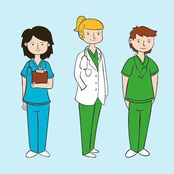Concepto de equipo de profesionales de la salud